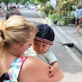 Een mooie ontmoeting op Java, Indonesië