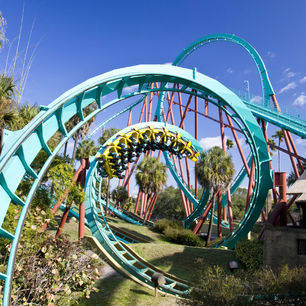 achtbaan in Walt Disney World in Orlando