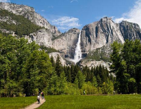 Amerika-Yosemite-Waterval