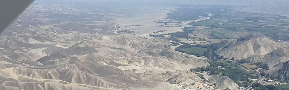 Vliegen over de Nazca-lijnen van Peru