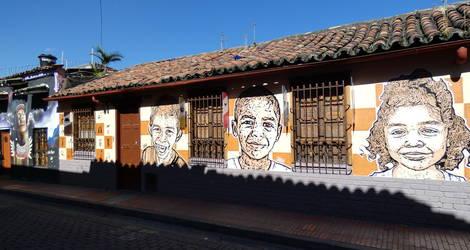 Colombia-Bogota-muurschildering