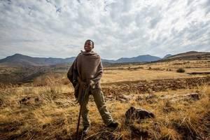 Lesotho-Malelealea-dorpswandeling