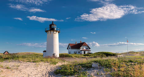 Amerika-Cape-Cod-Beach-Vuurtoren