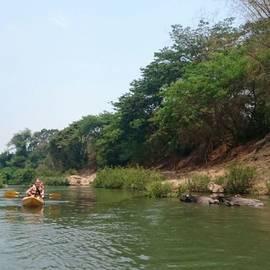 Kanoën in Laos