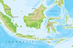 De kaart van Indonesie