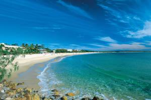 Genieten op het strand, Noosa Main Beach