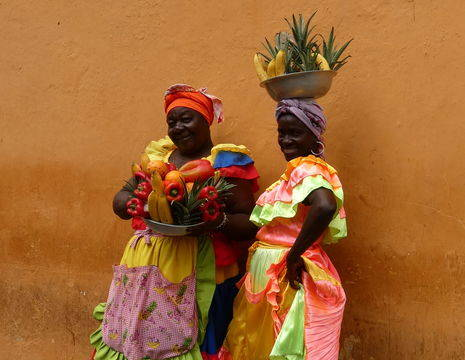 Colombia-Cartagena-Marktvrouwen