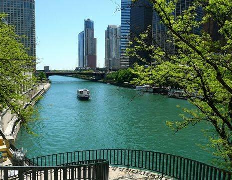 Amerika-Chicago-Boottocht
