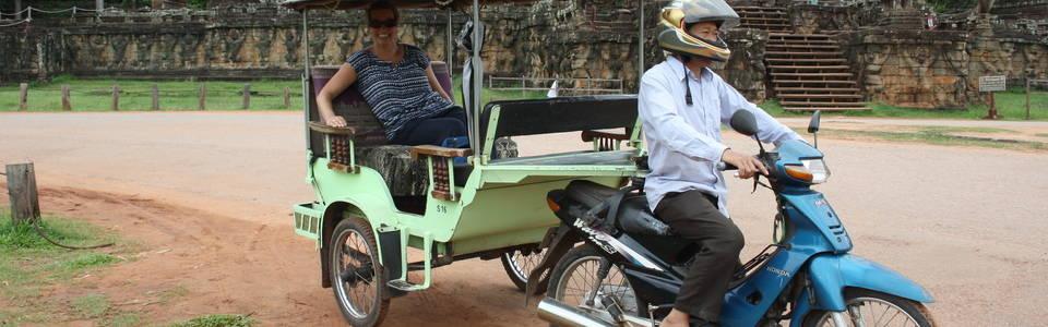 Reizen in Cambodja per tuktuk