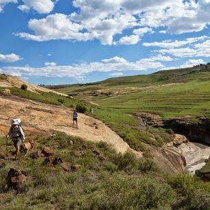 Lesotho-Malelealea-traditioneel-Basothohuisje