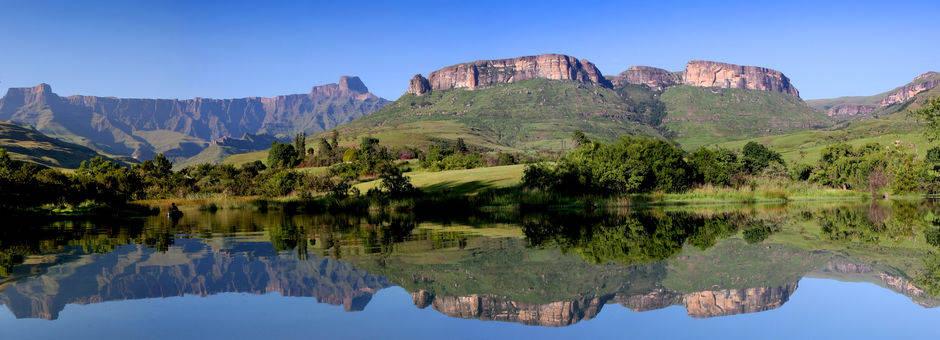 Geweldig berggebied, Drakensbergen, Zuid-Afrika