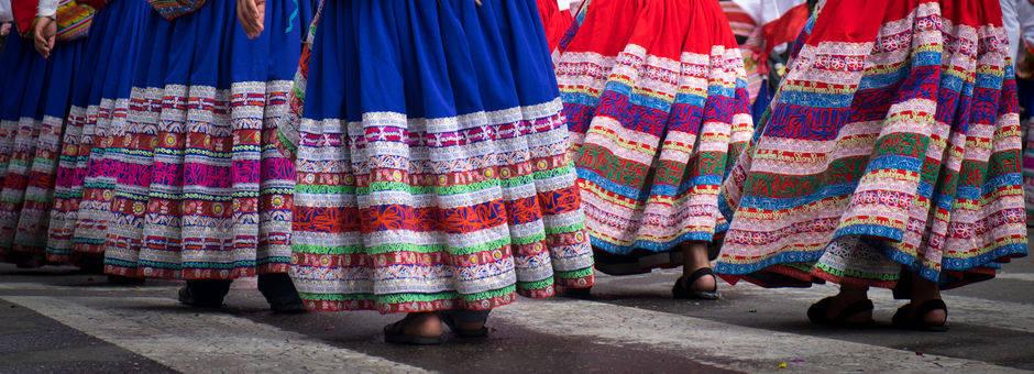 Traditionele jurken in La Paz - Bolivia