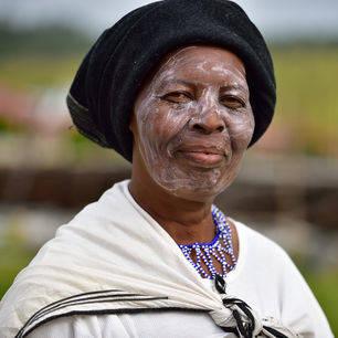 Zuid-Afrika-Xhosa-vrouw