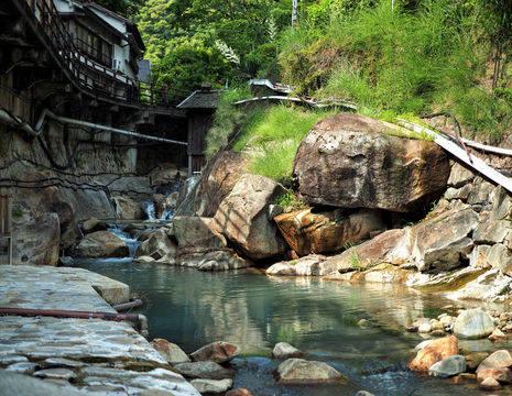 Yunomine Onsen warmwaterbronnen - Japan