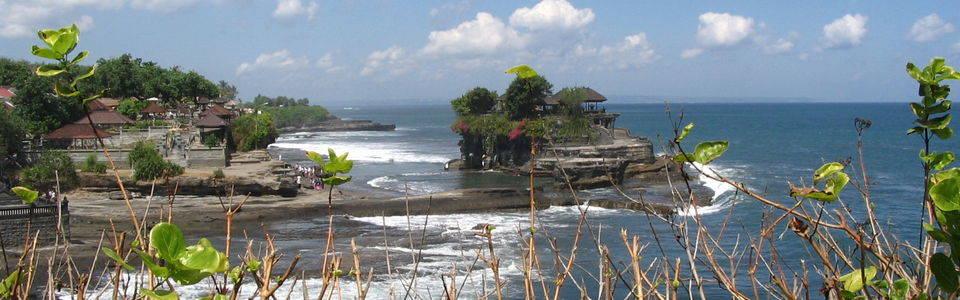 Tanah Lot tempel aan zee op Bali