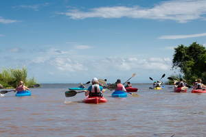 Kajakken op het Meer van Nicaragua