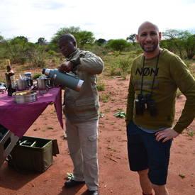 Lunchen in Afrika