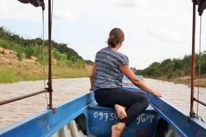 Drijvende dorpen op het Tonlé Sap meer