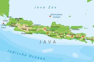 De kaart van Java
