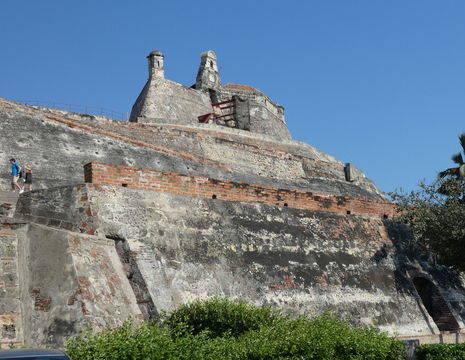 Het fort Castillo de San Felipe in Cartagena