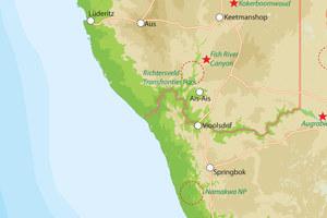 Zuid-Namibie met Zuid-Afrika