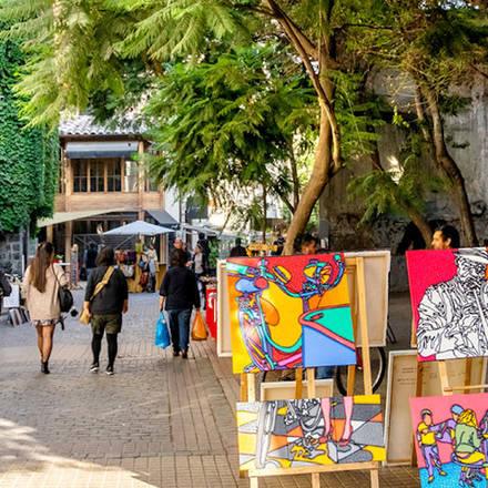 De gezellige straatjes in Santiago de Chile