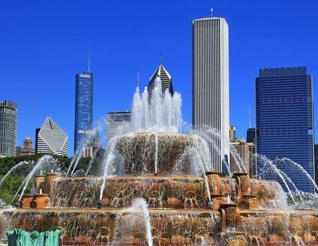 Amerika-Chicago-Fontein