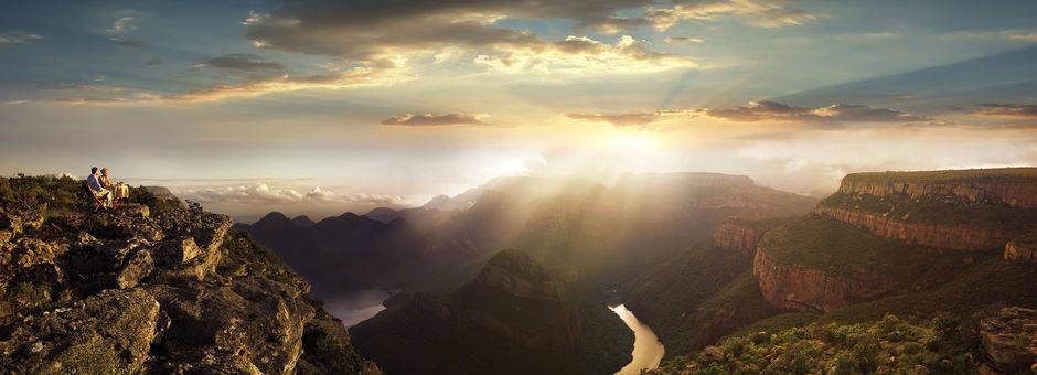 Prachtige zonsondergangen bij de Blyde River Canyon, Zuid-Afrika