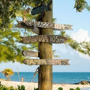Amerika-Florida-Key-West-Bordjes