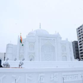 ijssculptuur in Sapporo